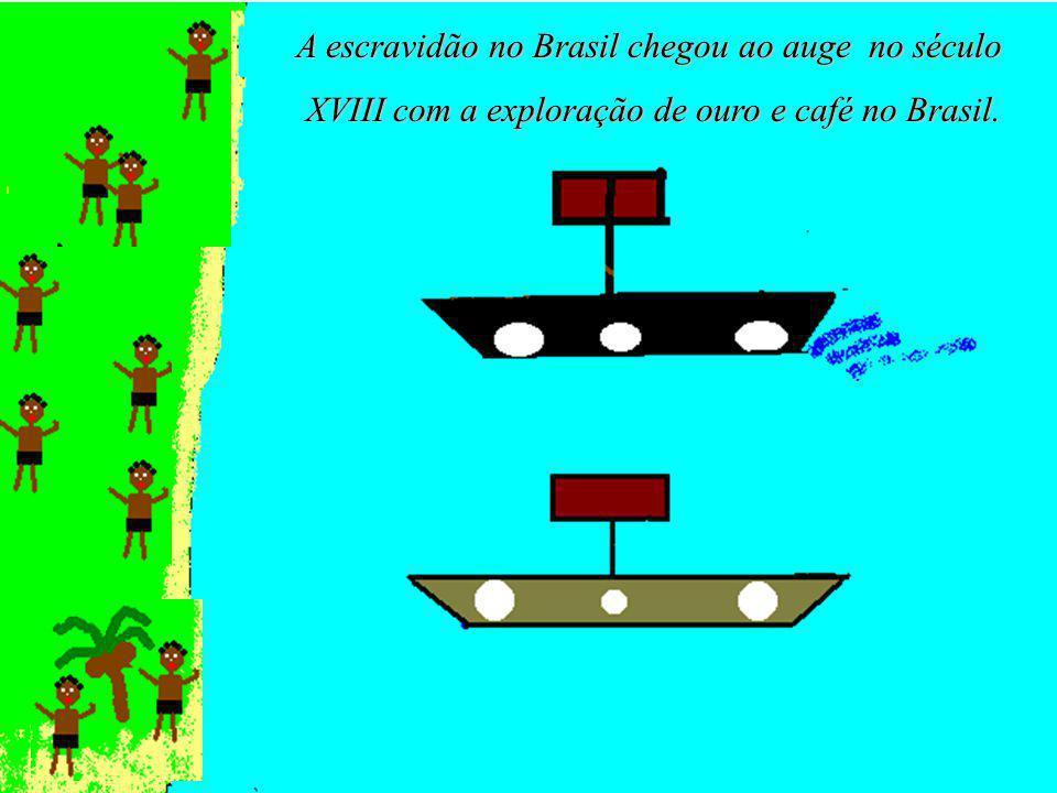 A escravidão no Brasil chegou ao auge no século