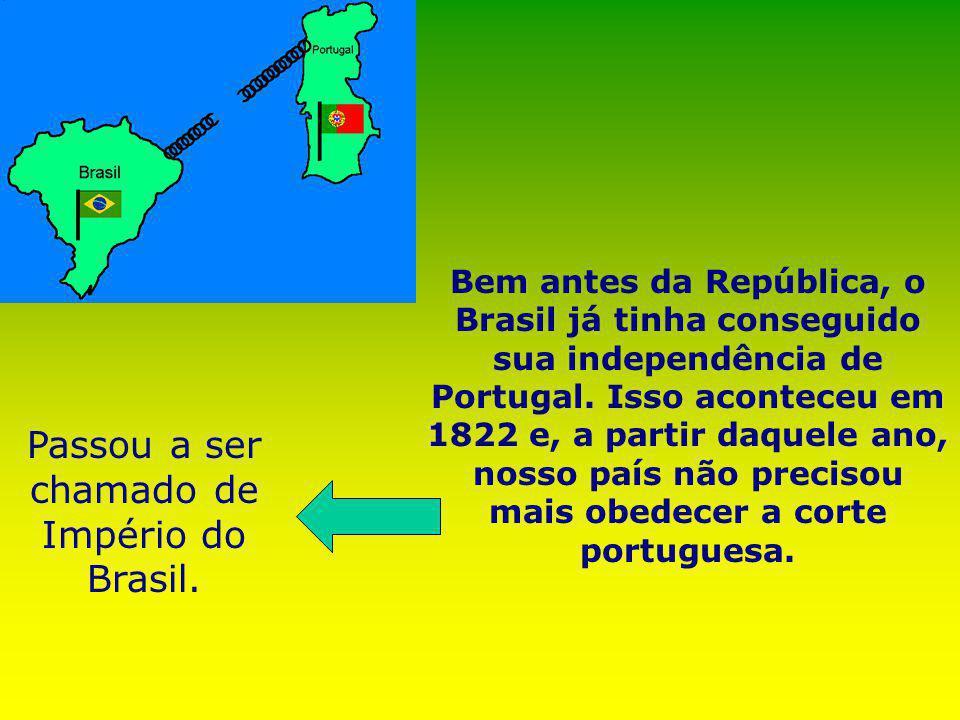 Passou a ser chamado de Império do Brasil.
