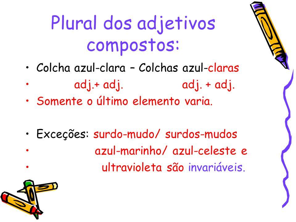 Plural dos adjetivos compostos: