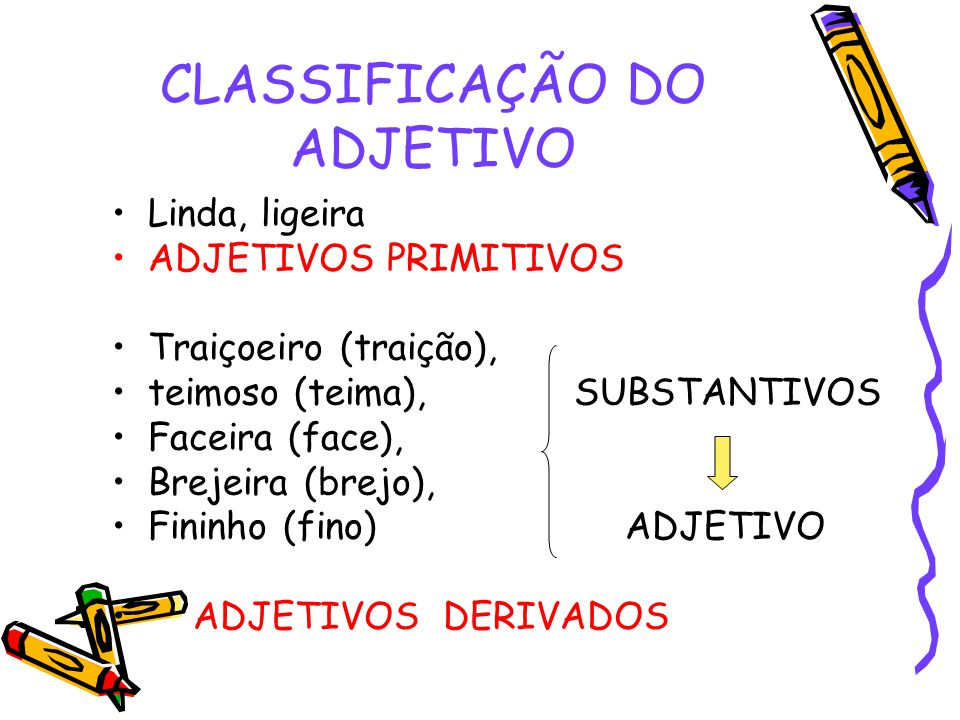 CLASSIFICAÇÃO DO ADJETIVO
