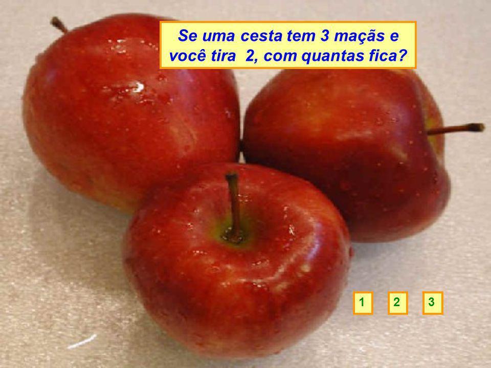 Se uma cesta tem 3 maçãs e você tira 2, com quantas fica