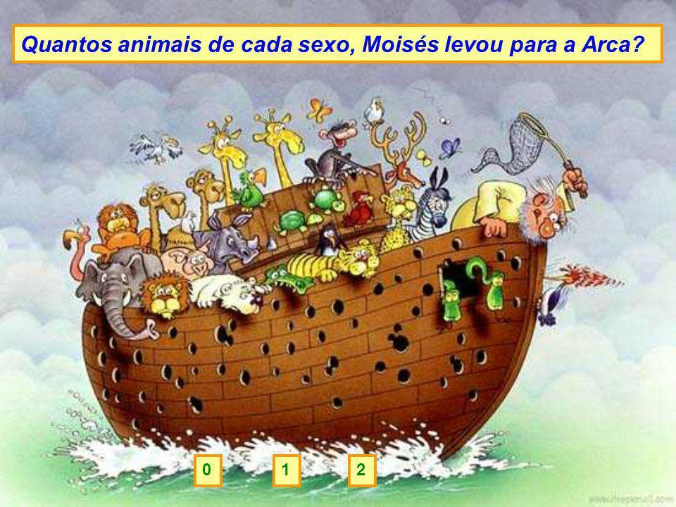 Quantos animais de cada sexo, Moisés levou para a Arca