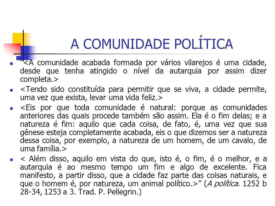 A COMUNIDADE POLÍTICA