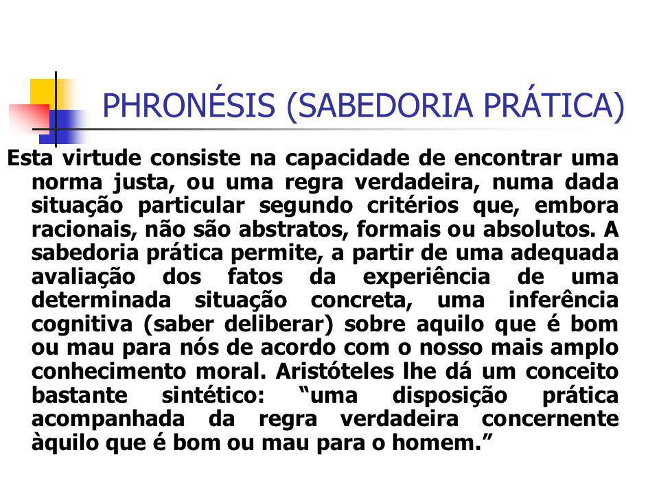 PHRONÉSIS (SABEDORIA PRÁTICA)