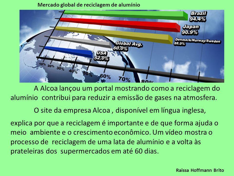 O site da empresa Alcoa , disponível em língua inglesa,