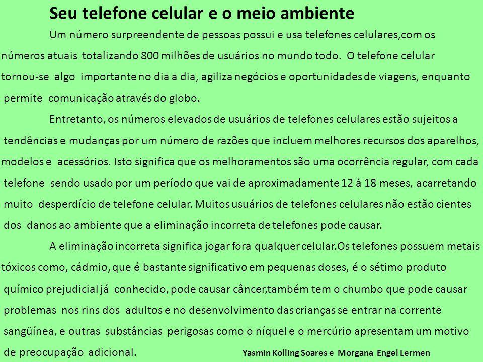 Seu telefone celular e o meio ambiente