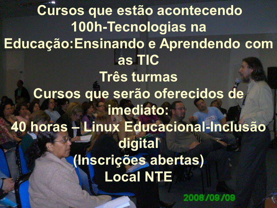 100h-Tecnologias na Educação:Ensinando e Aprendendo com as TIC