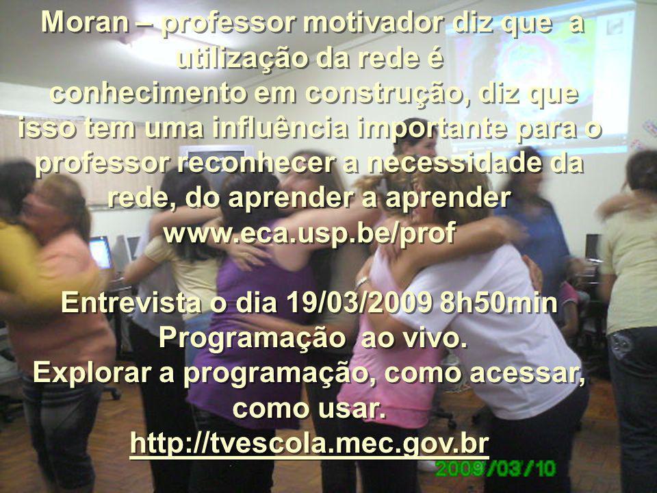 Entrevista o dia 19/03/2009 8h50min Programação ao vivo.