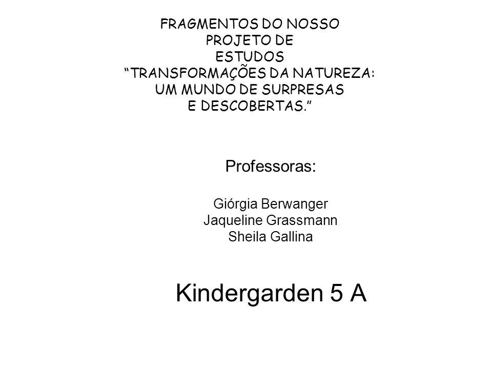 Kindergarden 5 A Professoras: