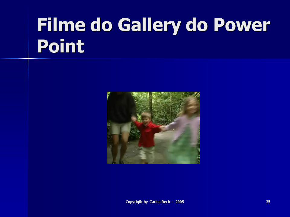 Filme do Gallery do Power Point
