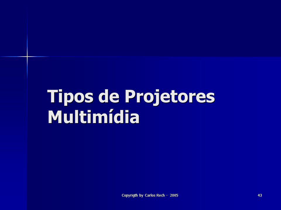 Tipos de Projetores Multimídia