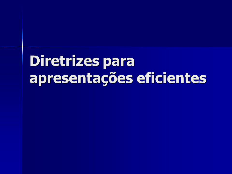 Diretrizes para apresentações eficientes