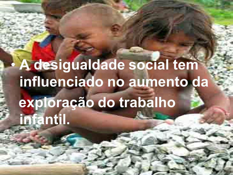 A desigualdade social tem influenciado no aumento da
