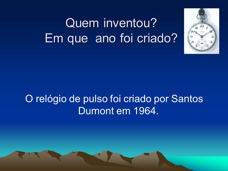 Quem inventou Em que ano foi criado