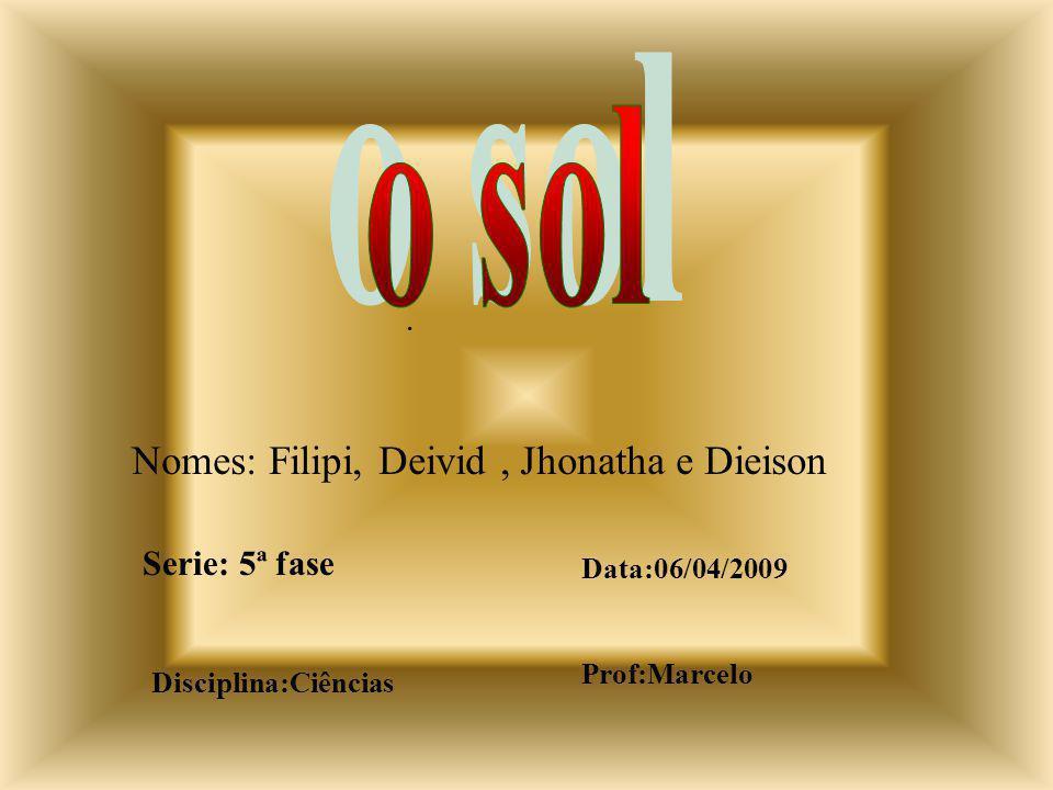 o sol Nomes: Filipi, Deivid , Jhonatha e Dieison . Serie: 5ª fase