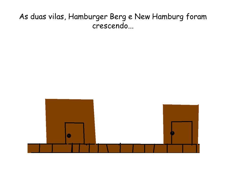 As duas vilas, Hamburger Berg e New Hamburg foram crescendo...