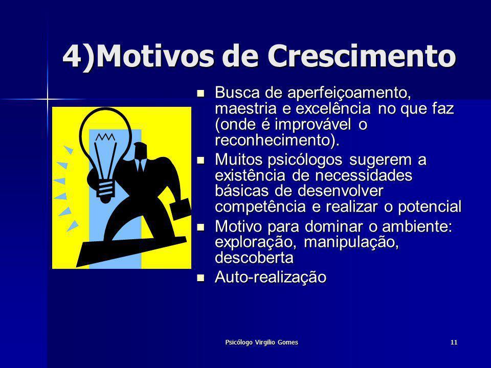 4)Motivos de Crescimento