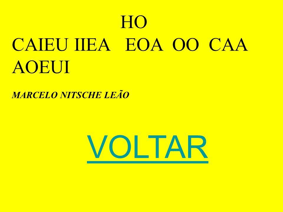 HO CAIEU IIEA EOA OO CAA AOEUI MARCELO NITSCHE LEÃO VOLTAR