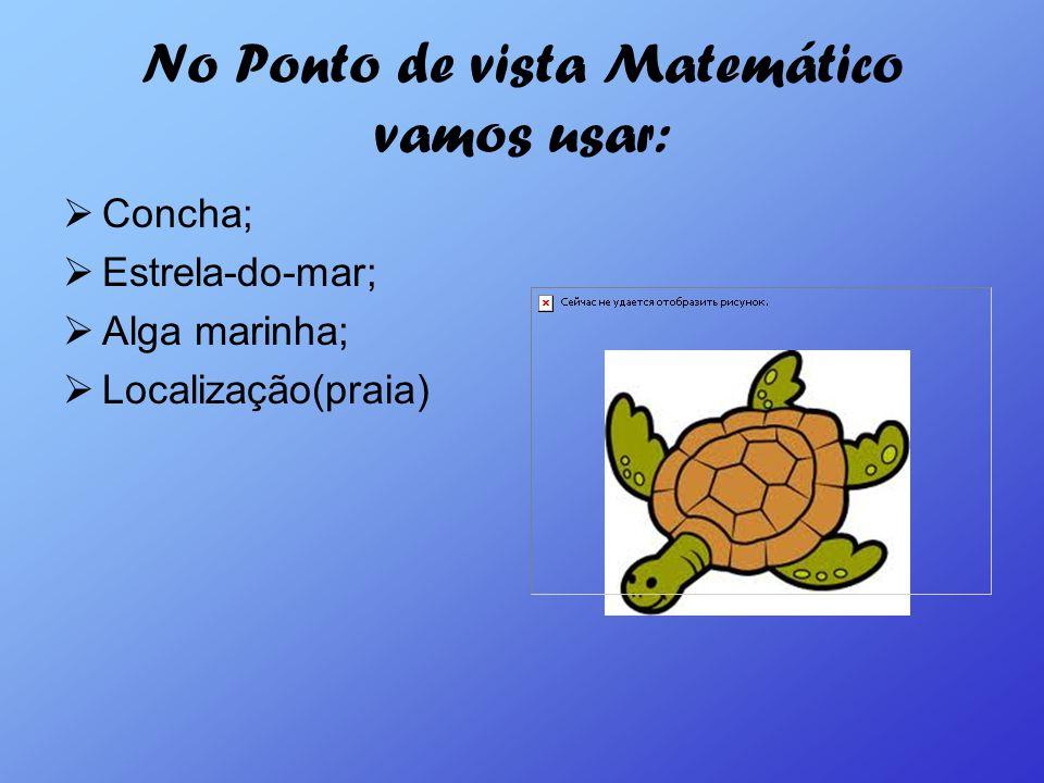 No Ponto de vista Matemático vamos usar: