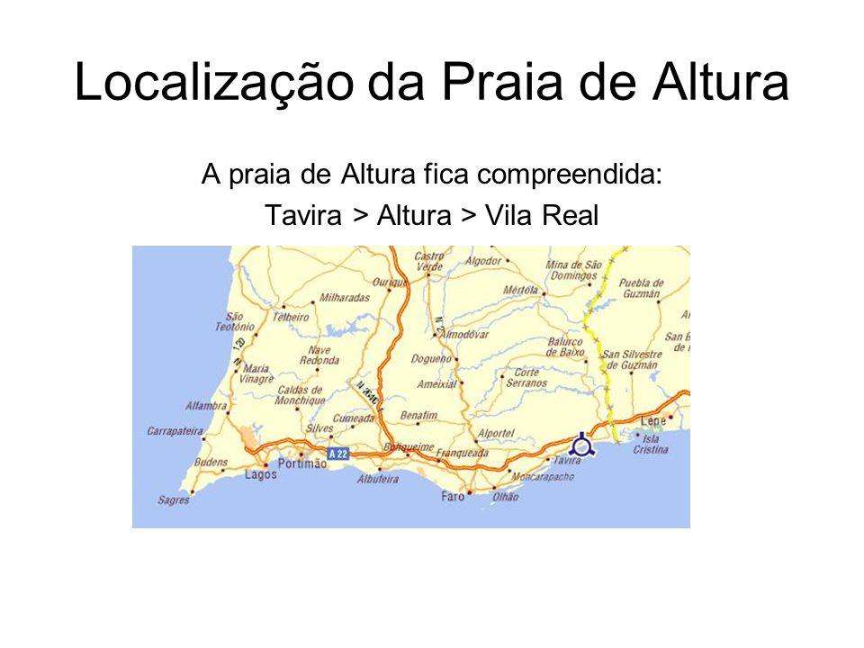 Localização da Praia de Altura