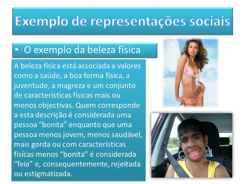Exemplo de representações sociais