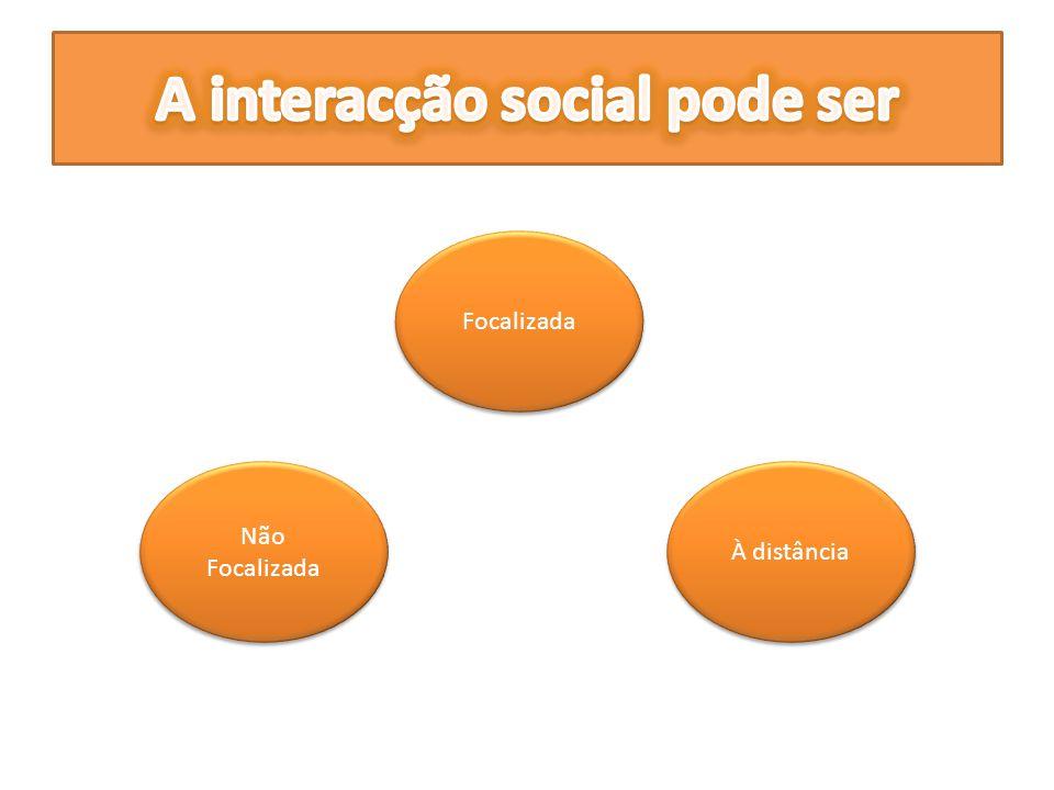 A interacção social pode ser