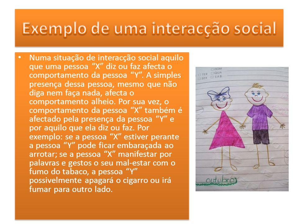 Exemplo de uma interacção social