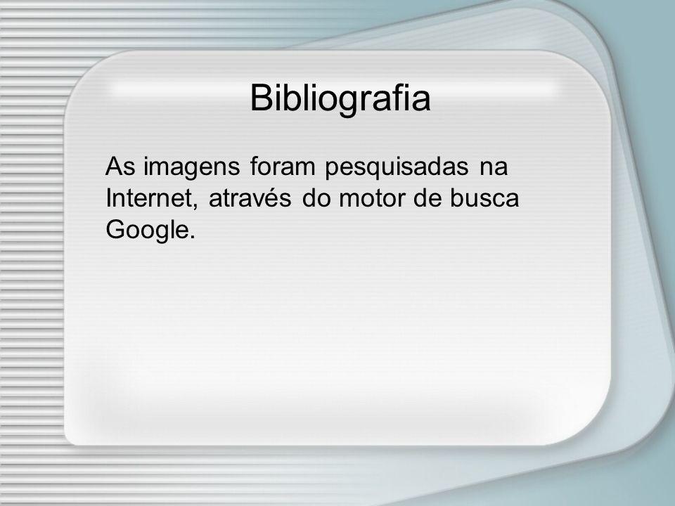 Bibliografia As imagens foram pesquisadas na Internet, através do motor de busca Google.