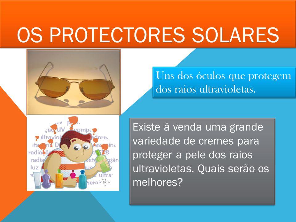 Os protectores solares