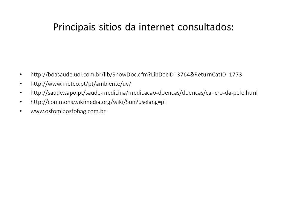 Principais sítios da internet consultados: