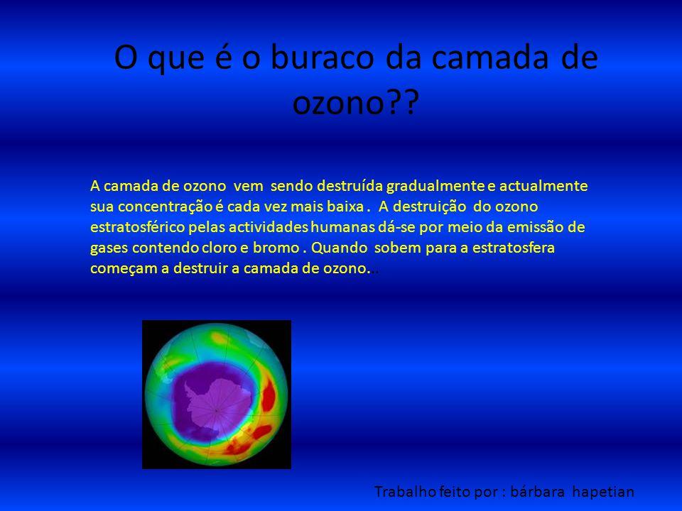 O que é o buraco da camada de ozono