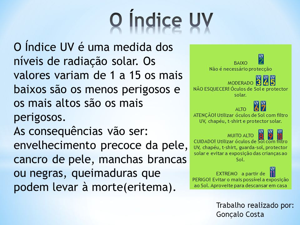 O Índice UV