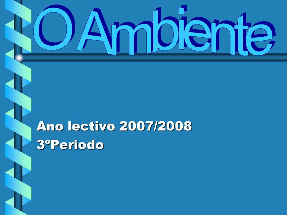 O Ambiente Ano lectivo 2007/2008 3ºPeriodo