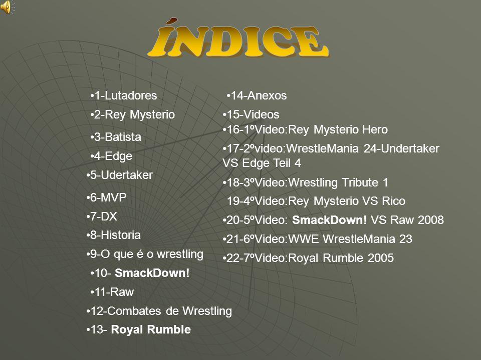 ÍNDICE 1-Lutadores 14-Anexos 2-Rey Mysterio 15-Videos