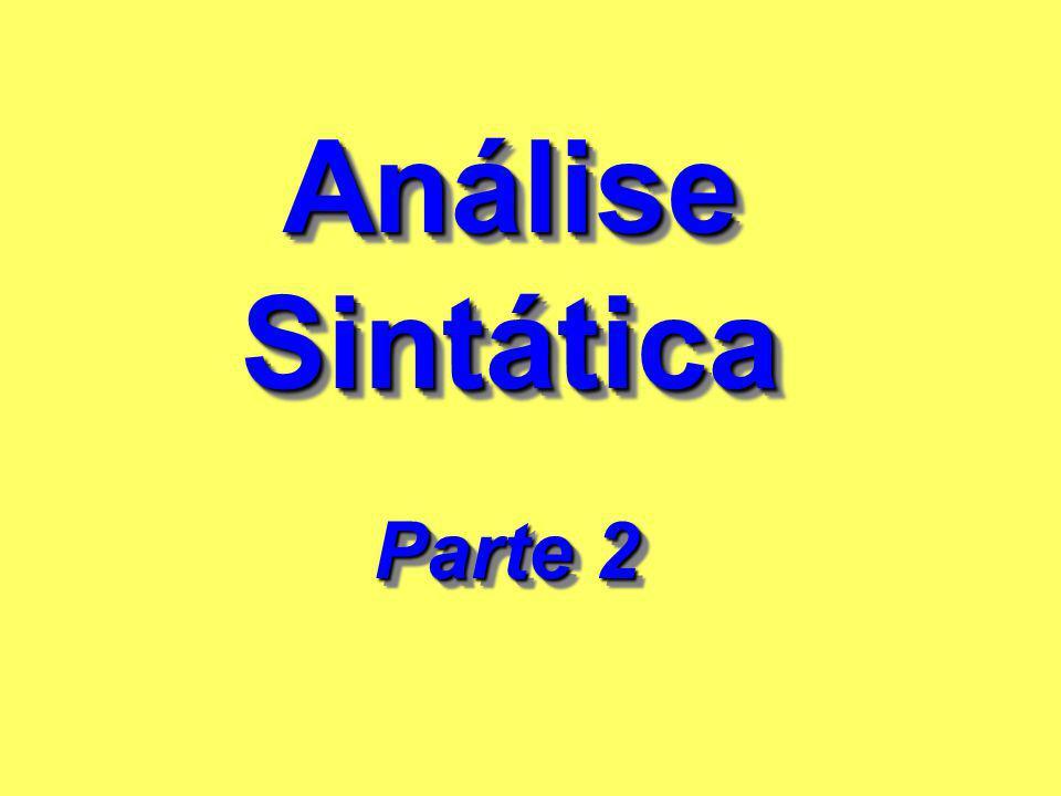 Análise Sintática Parte 2