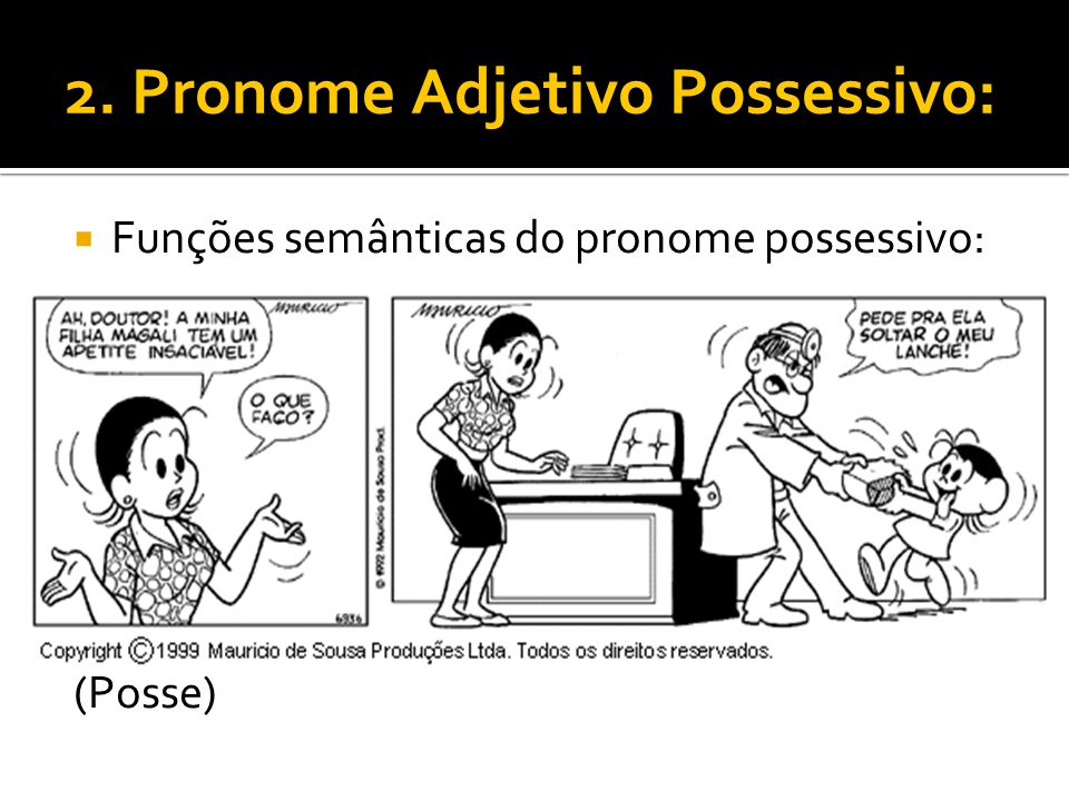 2. Pronome Adjetivo Possessivo: