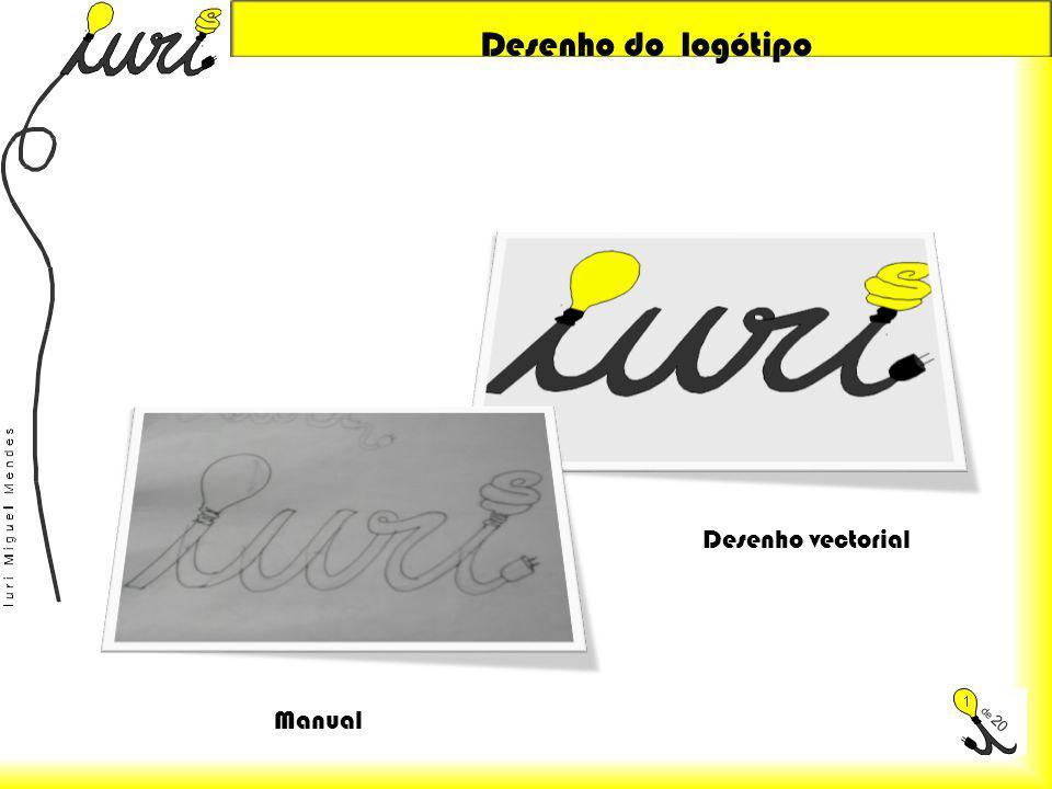 Desenho do logótipo Desenho vectorial Manual