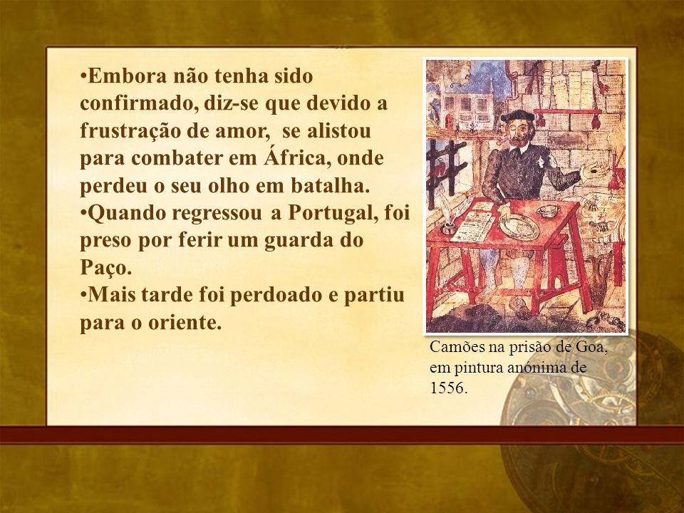 Quando regressou a Portugal, foi preso por ferir um guarda do Paço.
