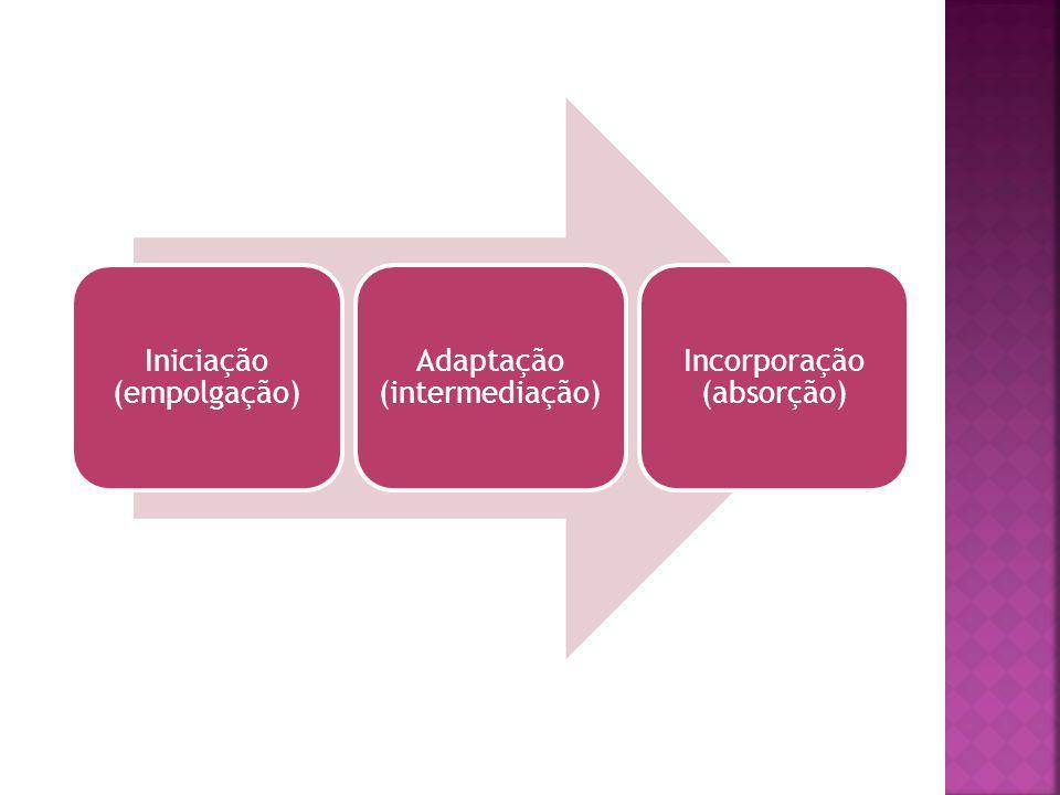 Iniciação (empolgação) Adaptação (intermediação)