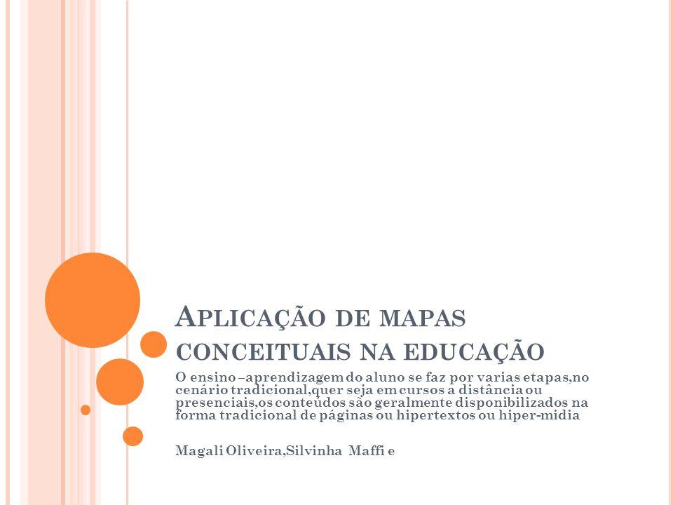 Aplicação de mapas conceituais na educação