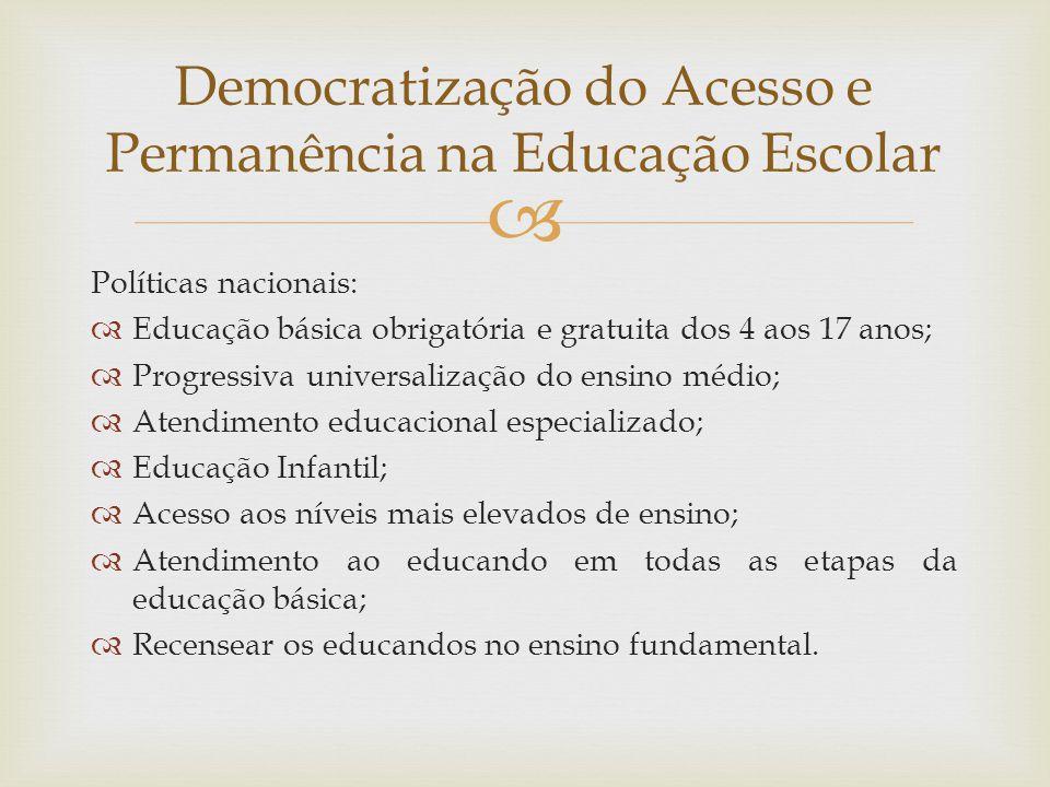 Democratização do Acesso e Permanência na Educação Escolar