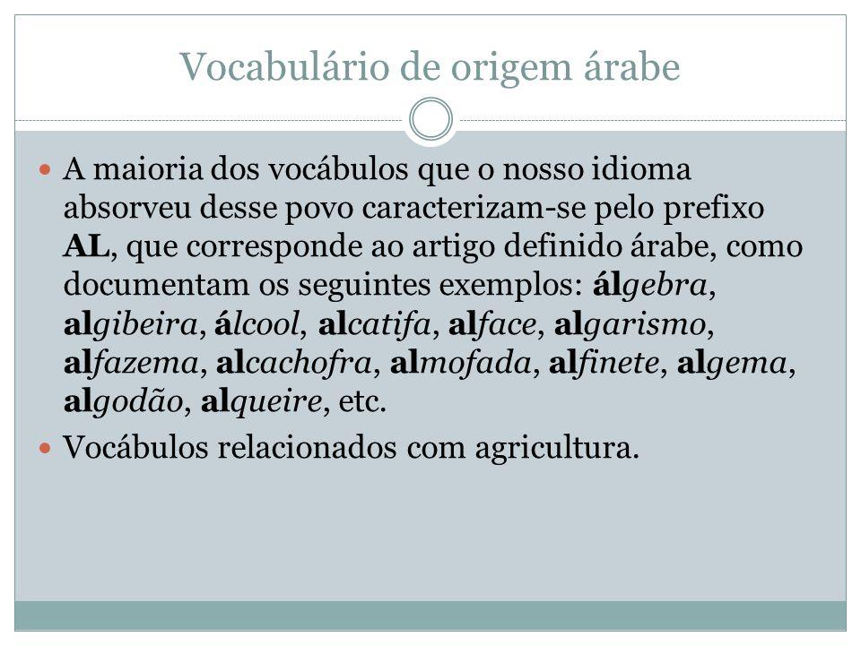 Vocabulário de origem árabe