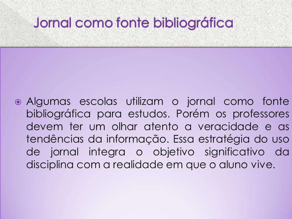 Jornal como fonte bibliográfica
