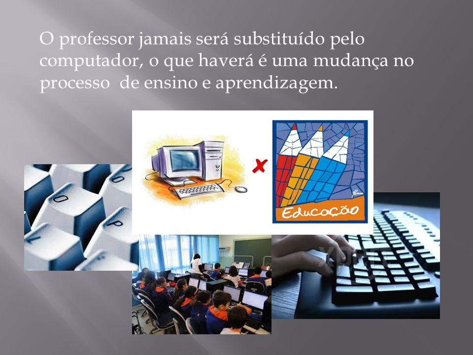 O professor jamais será substituído pelo computador, o que haverá é uma mudança no processo de ensino e aprendizagem.