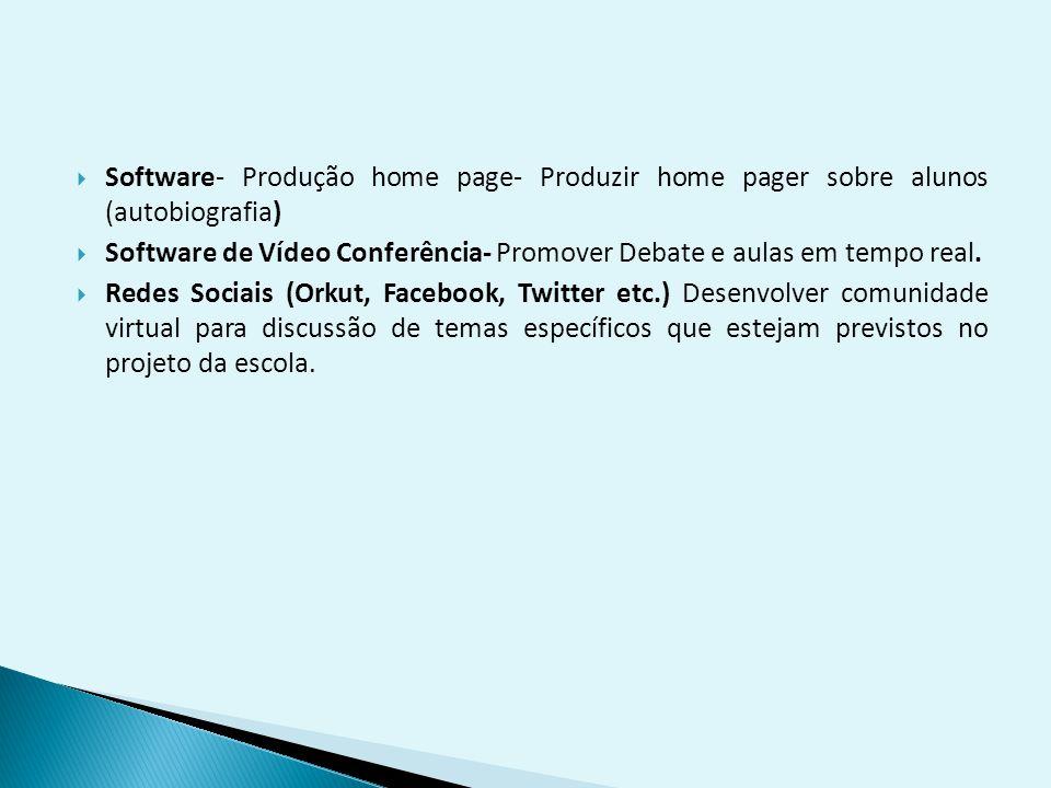 Software- Produção home page- Produzir home pager sobre alunos (autobiografia)