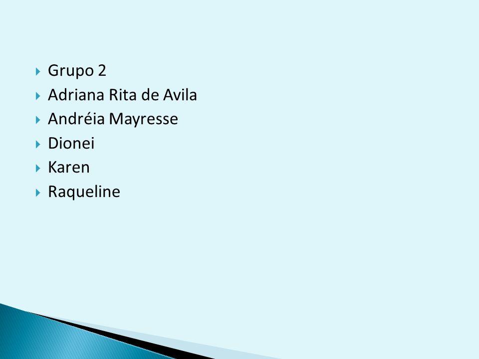 Grupo 2 Adriana Rita de Avila Andréia Mayresse Dionei Karen Raqueline