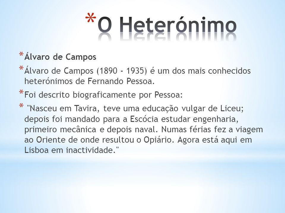 O Heterónimo Álvaro de Campos