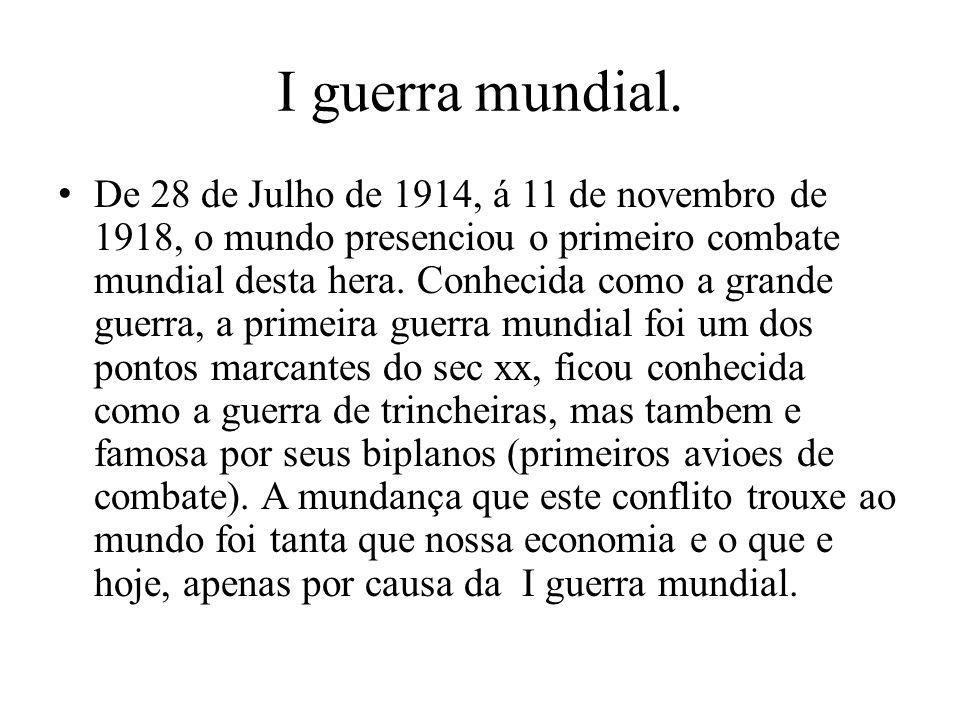 I guerra mundial.