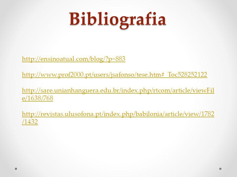 Bibliografia http://ensinoatual.com/blog/ p=883