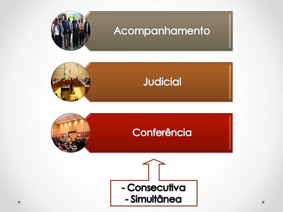 Acompanhamento Judicial Conferência - Consecutiva - Simultânea